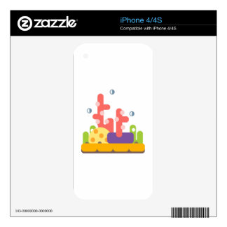 Coral Reef Primitive Style iPhone 4S Decal