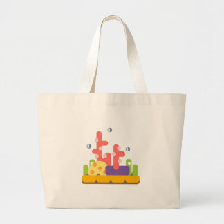 Coral Reef Primitive Style Large Tote Bag