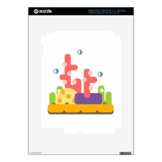 Coral Reef Primitive Style Skin For iPad 3