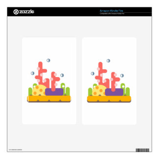 Coral Reef Primitive Style Skin For Kindle Fire