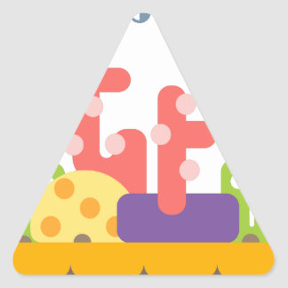Coral Reef Primitive Style Triangle Sticker