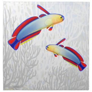 Coral Reef Purple Firefish Napkins