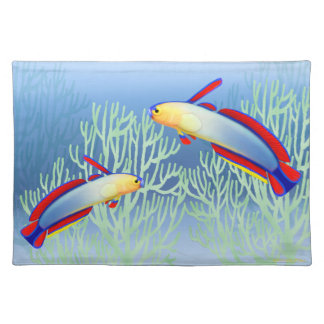 Coral Reef Purple Firefish Placemats