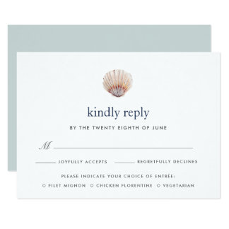 Coral Reef RSVP Card with Meal Choice