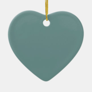 Coral Reef Save the Date Heart Ornament
