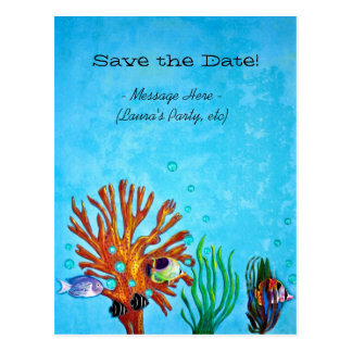 Coral Reef - Save the Date! Post Cards