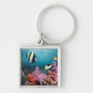 Coral Reef Scenery | Moorish Idol Keychain