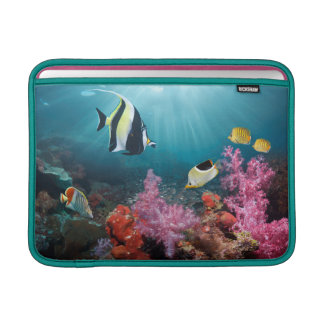 Coral Reef Scenery | Moorish Idol MacBook Sleeve