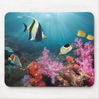 Coral Reef Scenery | Moorish Idol Mouse Pad