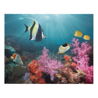 Coral Reef Scenery | Moorish Idol Panel Wall Art