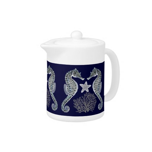 Coral Reef Seahorse Starfish Teapot