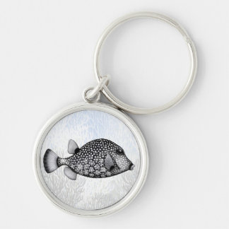 Coral Reef Smooth Trunkfish Keychain