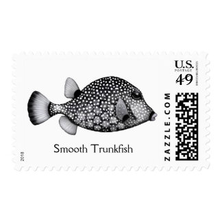 Coral Reef Smooth Trunkfish Postage