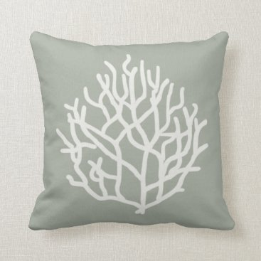 Beach Themed Coral Reef Throw Pillow