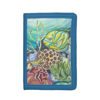 Coral reef trifold wallet