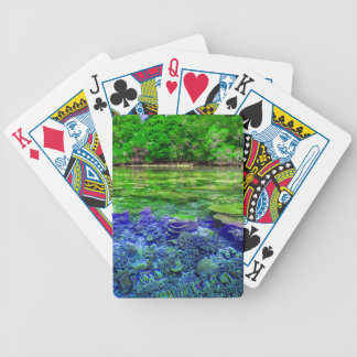 Coral Reef Tropical Coastline Bicycle Playing Cards