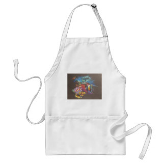 Coral Reef Tropical Fish Adult Apron