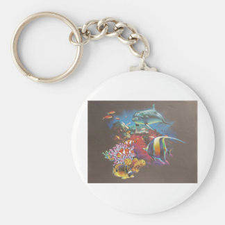 Coral Reef Tropical Fish Key Chains