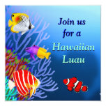 Coral Reef Tropical Fish Party Invitation
