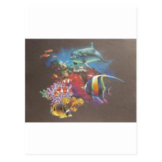 Coral Reef Tropical Fish Postcard