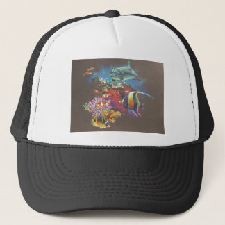 Coral Reef Tropical Fish Trucker Hat