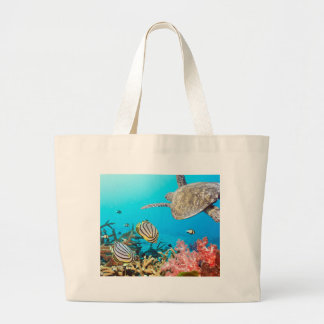 Coral Reef Turtle Naturescape Canvas Bags