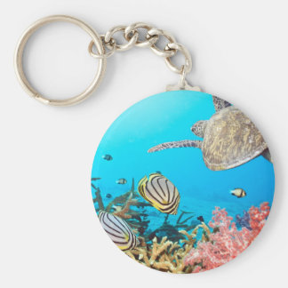 Coral Reef Turtle Naturescape Keychain