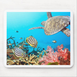 Coral Reef Turtle Naturescape Mouse Pad