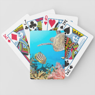 Coral Reef Turtle Naturescape Bicycle Playing Cards