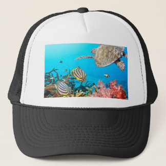Coral Reef Turtle Naturescape Trucker Hat