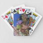 Coral reef, uderwater view bicycle playing cards