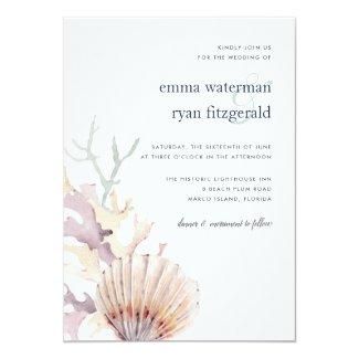 Coral Reef Wedding Invitation