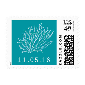 Coral Reef Wedding Postage for Sharon
