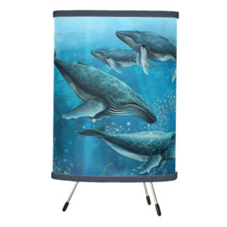 Coral Reef Whales Tripod Lamp