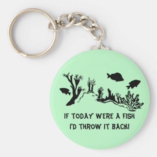 Coral Reef with Fish Swimming Key Chains