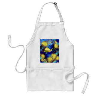 Coral Reef with Yellow Tang Tropical Fish Aprons