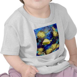 Coral Reef with Yellow Tang Tropical Fish Shirt