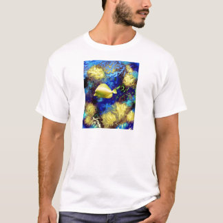 Coral Reef with Yellow Tang Tropical Fish T-Shirt