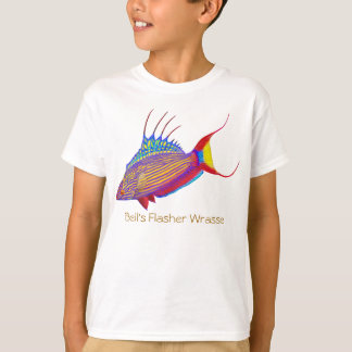 Coral Reef Wrasse Fish Customizable Kids T-Shirt