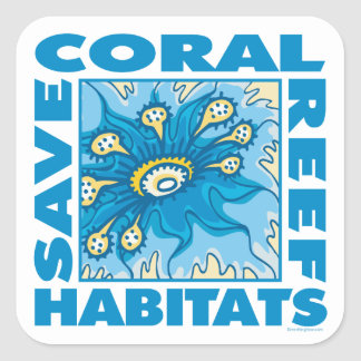 Coral Reefs Square Stickers