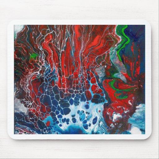 Coral rojo de la fan alfombrillas de ratones