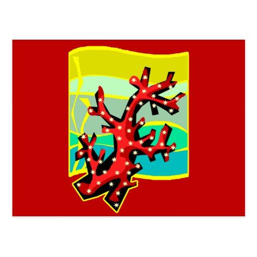 Coral rojo postales