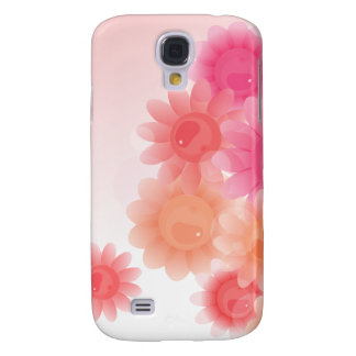 Coral romantic vintage flowers galaxy s4 cases