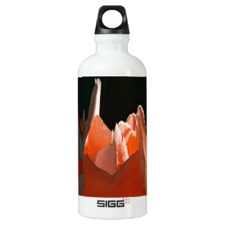 Coral Rose Abstract Aluminum Water Bottle