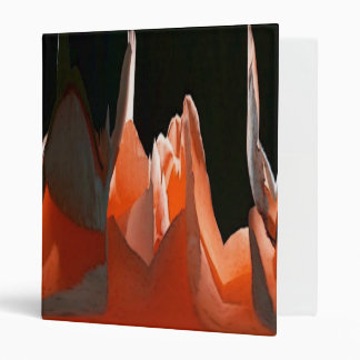 Coral Rose Abstract Binder