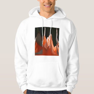 Coral Rose Abstract Hoodie