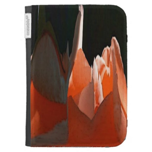 Coral Rose Abstract Kindle Cover