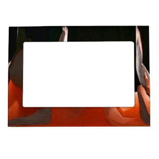 Coral Rose Abstract Magnetic Picture Frame