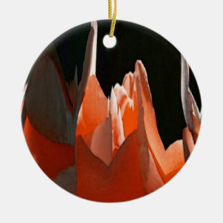 Coral Rose Abstract Ornament