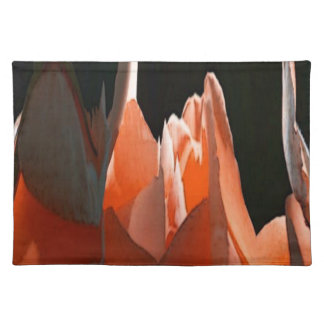 Coral Rose Abstract Placemat